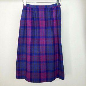 Vintage Pendleton Plaid Midi Skirt